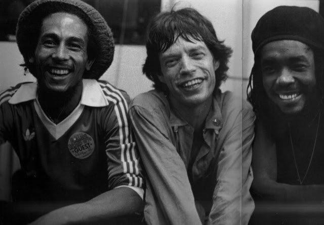Bob Marley e Mick Jagger juntos