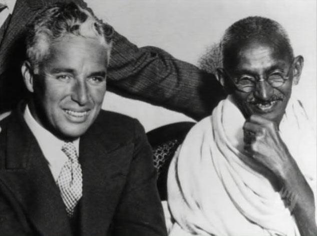 Chaplin e Gandhi (1931)