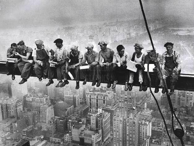 Construção do Empire State (até hoje essa foto é muito copiada)