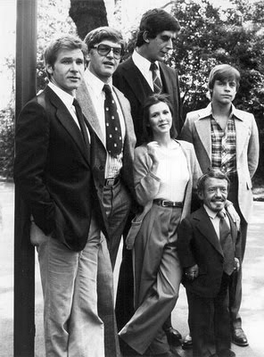 Foto rarissima do elenco de Star Wars - HAN SOLO, DARTH VADER, CHEWBACCA, PRINCESA LÉIA, LUKE E R2D2