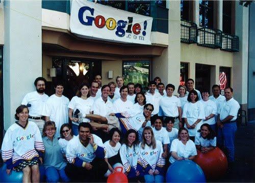 Google em 1999, uma micro empresa