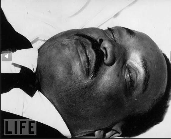 Luther King pouco depois de ser baleado em abril de 1968