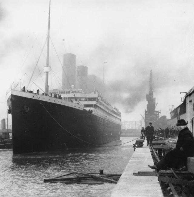 Titanic antes de zarpar