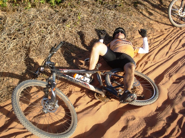tombo de bicicleta